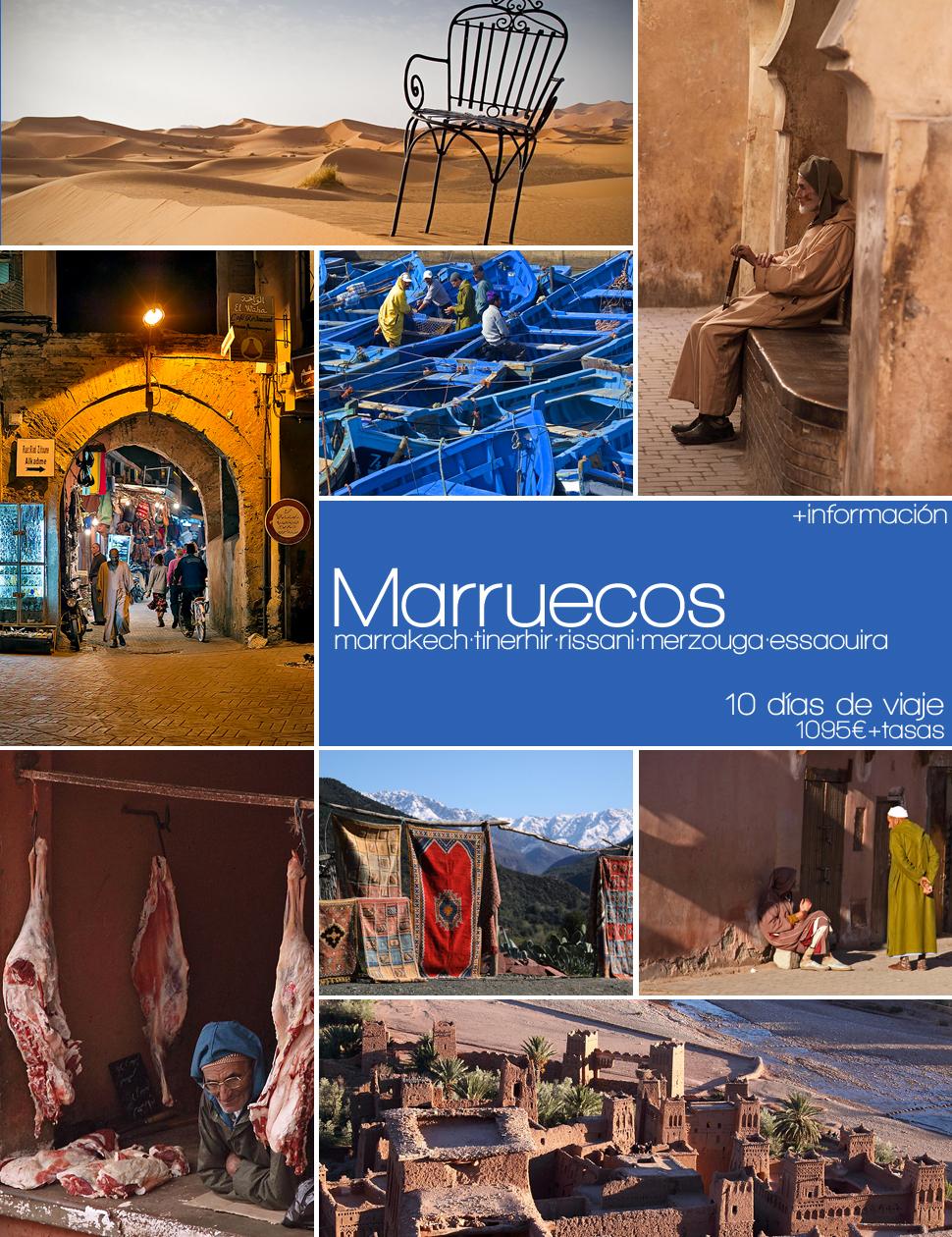 Viaje de 10 días a Marruecos .