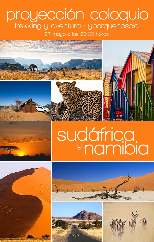 viajar solo, sudafrica,namibia, proyección, coloquio